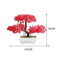 Fake Artificial Green Plant Bonsai Potted Simulation Decor Pine Tree M3F8