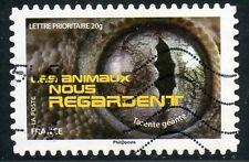 TIMBRE FRANCE AUTOADHESIF OBLITERE N° 1160 / LES ANIMAUX NOUS REGARDE / TARENTE