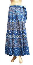 Indian Women Ethnic Floral Rapron Printed Cotton Long Skirt Wrap Around Skirt-99