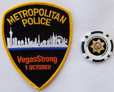 "LAS VEGAS METROPOLITAN POLICE ""VEGAS STRONG"" PATCH & LVMPD POKER COIN/CHIP"