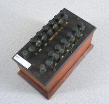 Vintage Bakelite and Dovetailed Oak Wheatstone Bridge Electrical Apparatus #B1