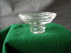 "VINTAGE HEISEY CLEAR GLASS ICE LINER SHRIMP COCKTAIL INSERT 4"" X 2+1/8"""