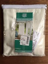 "NEW JCPenney Home Outdoor Curtain Panel Outdoor Oasis 84"" Marshmallow Cream"