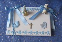 Geschenk Taufe Geburt Taufgeschenk Paten Baby Verpackung Geldgeschenk Junge blau