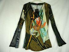 Save the Queen Shirt Ärmel mit Zip und transparenten Einsatz Gr. M