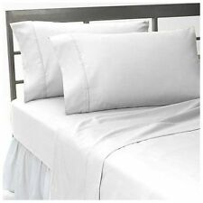 Hotel Bedding Items 1000TC Egyptian Cotton Select Size & Item White Solid