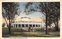 Minneapolis Minnesota~Family Walking to Lake Harriet Pavilion~1916 Postcard