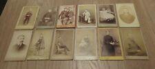 Victorian Portrait Photos On Card Antique Cabinet Photograph's x 12