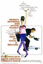 HOW TO STEAL A MILLION Movie POSTER 27x40 Audrey Hepburn Peter O'Toole Eli