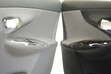 Door Panel Insert Cards Leather Synthetic for Toyota Corolla 09-13 Gray
