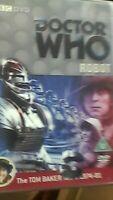 Doctor Who: Robot   DVD Tom Baker BBC Terrance Dicks & Elisabeth Sladen SEALED