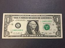 $1 Dollar Bill Series 2009 Birthday / Anniversary1,985-1,935 Fancy Serial Number