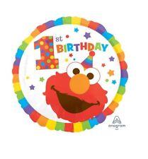 Party Supplies Boys Girls Birthday Elmo Sesame Street 1st One 45cm Foil Balloon