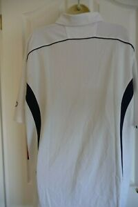 SIZE X-LARGE RAWLINGS WHITE/NAVY TRIMS SHORT-SLEEVE POLO SHIRT £30 new with tags