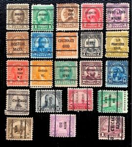 1922-25 US Stamp SC#551-571 Regular Issue Precancel -Used