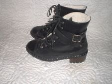 UGG Collection Sassari warm Lace up Leather  Combat Ankle Boots  MADE IN ITALY 6