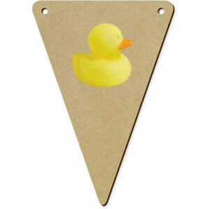 5 x 140mm 'Rubber Duck' Wooden Bunting Flags (BN00058740)