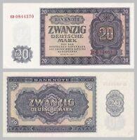 DDR / GDR 20 Deutsche Mark / DM 1955 p19a vzgl