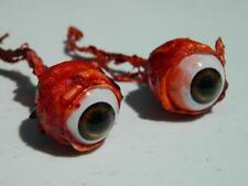Halloween Horror Prop Realistic Life Size Pair of  Ripped Out Eyeballs -  FB01