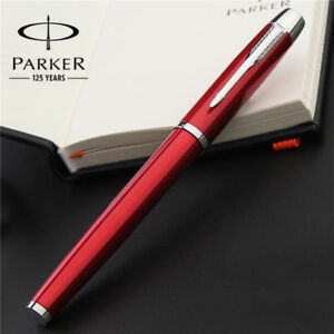 Parker IM Series Fountain Pen Red Chrome Trim With 0.5mm Fine Steel Point