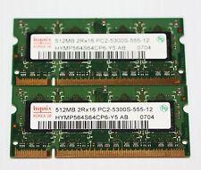 """New listing Genuine Ddr2 1gb (2 x 512mb) Pc2-5300s Memory-Apple iMac 17"""" Intel A1208 White"""