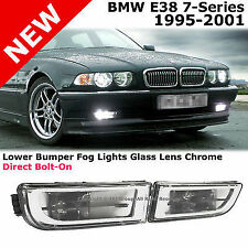 BMW E38 7-Series 95-01 740i 740iL 750i 750iL Chrome Lower Bumper Set Fog Lights