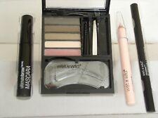 wet n wild ultimate brow set w/ universal stencil kit powders tools wax