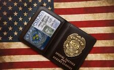 Movie Resident Evil Stars Chris Police Metal Badge With Id Wallet Holder Case