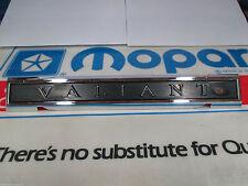 Mopar NOS 1962 Plymouth Valiant V200 Trunk Name Plate Emblem 2243276