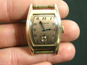 Rose Gold Dial & Case Bulova 10AX 17J Men's Wrist Watch