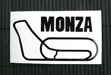 Adesivo MONZA con nome circuito sticker decal auto moto vetro wall window race