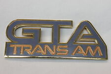 87-91 Trans Am GTA Gunmetal Gray Front Fender Emblem New