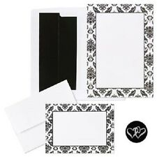 Classic Black and White Damask Printable Wedding Invitations Kit 50/pk