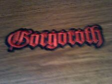 GORGOROTH,IRON ON RED EMBROIDERED PATCH