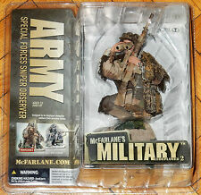 MCFARLANE MILITARY REDEPLOYED SERIES 2 ARMY SPECIAL FORCES SNIPER OBSERVER MIB