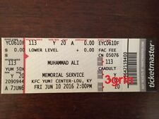Only One On eBay: GENUINE MUHAMMAD ALI FUNERAL MEMORIAL SERVICE TICKET; 6/10/16