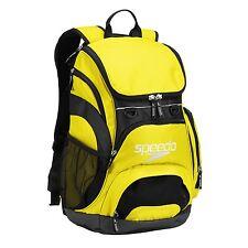 Speedo Teamster Backpack  Swim Gear Back Pack- 35L Liters - Blazing Yellow/Black
