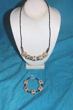 OBAMA 44th President Necklace and Bracelet set Made with KAZURI BEADS