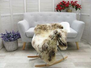 Sheepskin Rug British JACOB HERDWICK Real Soft Dense Fur Natural Shaggy Rug J100