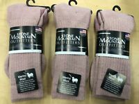 Merino Wool Polar Hiker Socks 3 PAIRS Pink  MEN'S AND WOMAN'S MADE IN USA! Large