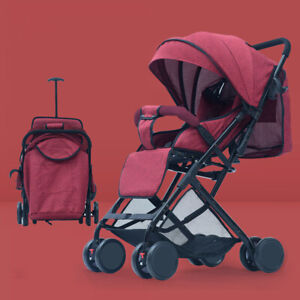 Compact Lightweight Baby Travel Stroller Pram Buggy Pushchair One Hand Foldable