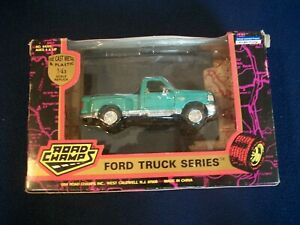 Vintage 1994 Road Champs FORD TRUCK SERIES Aqua Teal 1:43 Scale Die-cast Pickup