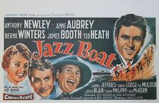 """JAZZ BOAT"" Affiche belge entoilée (Ken HUGHES / Anthony NEWLEY, Ted HEATH)"