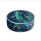 Skin Decal for Amazon Echo Dot 2 2nd gen/ Abalone Shell Green Swirl Blue Gold