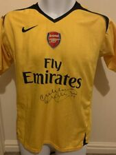 More details for signed malcolm macdonald arsenal away shirt + proof supermac england newcastle