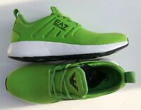EMPORIO ARMANI EA7 Green Trainers Sneakers Runners Logo Design Size UK 11 BNIB
