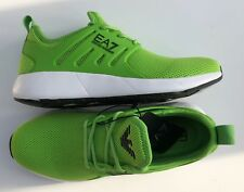 EMPORIO ARMANI EA7 Green Trainers Sneakers Shoes Logos UK 6-7 & 9-11.5 BNWT/BOX