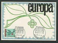 LUXEMBURG MK 1965 EUROPA CEPT MAXIMUMKARTE CARTE MAXIMUM CARD MC CM d3454
