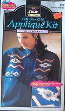 New listing 1993 Tulip Treasures #Lt06 Southwest Iron-On Applique Kit Quick & Easy Nip