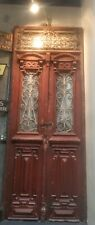 Antique Double Doors with authentic Wrought iron and original paint